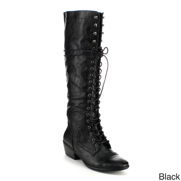 Refresh Women's 'Anka-04' Military Knee-high Riding Boots