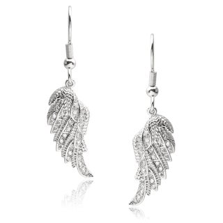 Journee Collection Cubic Zirconia Wing Dangle Earrings