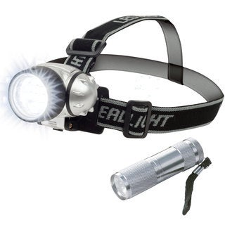 Stalwart LED Headlamp and LED Pocket Flashlight