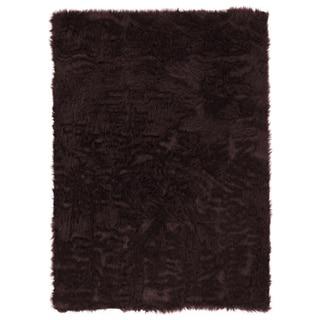 Linon Faux Sheepskin Brown Area Rug (5' x 7')