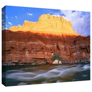 Dean Uhlinger 'Marble Canyon Sunset' Gallery-wrapped Canvas