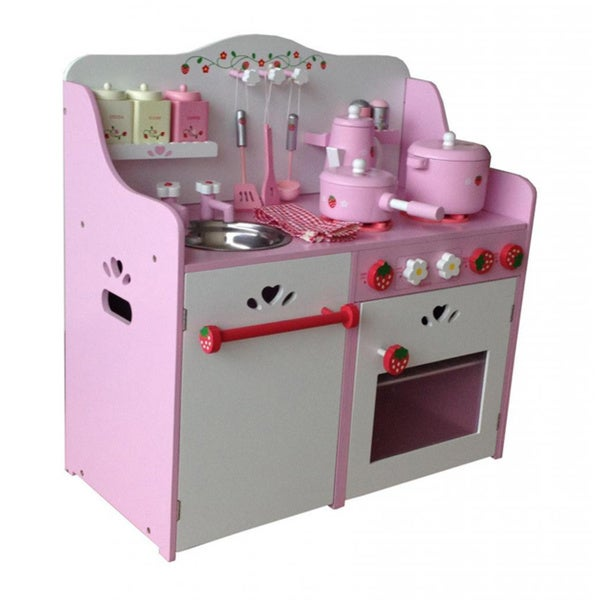 Merske My Strawberry Wooden Play Kitchen