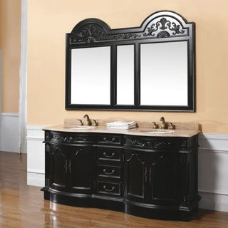 James Martin Furniture Classico Double Travertine Vanity Set