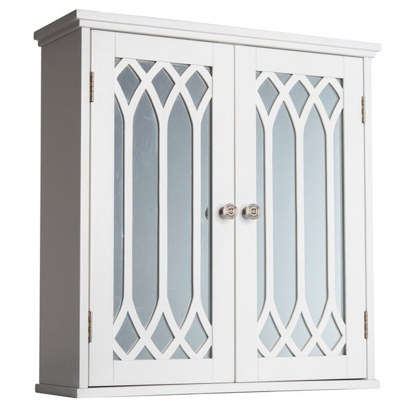 kathy white 2 door wall cabinet with mirror