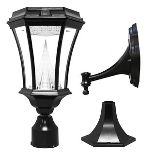 Gama Sonic 9-light Black Victorian Solar LED Light