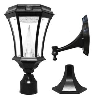 Gama Sonic 9-light Black Victorian Solar LED Light