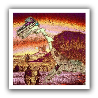 Dean Uhlinger 'The West Was Lost' Unwrapped Canvas