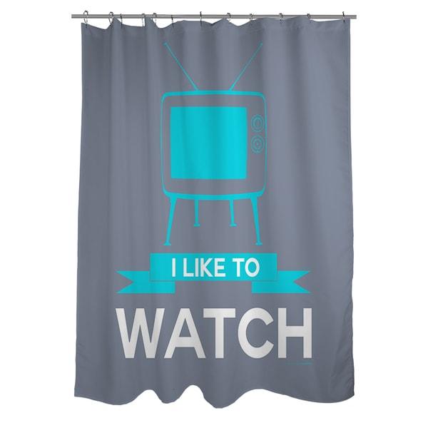 Thumbprintz I like to Watch Shower Curtain