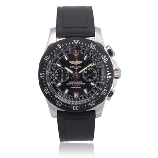 Breitling Mens Stainless Steel Skyracer Raven Chronograph Watch