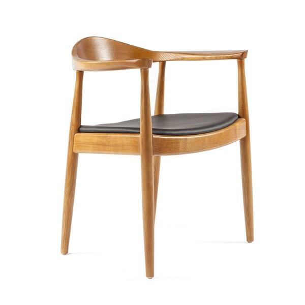 Kennedy Arm Chair 600 Peony Retro Dark Walnut Black