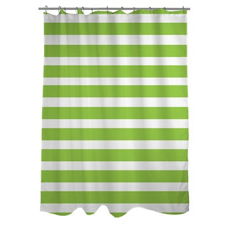 Thumbprintz Bright Stripes Kiwi Shower Curtain
