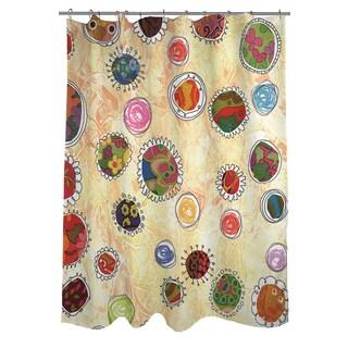 Thumbprintz Funky Flowers Shower Curtain