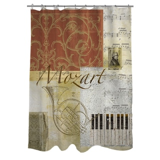 Thumbprintz Classic Composers Mozart Shower Curtain
