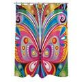 Thumbprintz Pattern Butterfly Shower Curtain