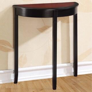 Linon Camden Black Cherry Demi-lune Console Table