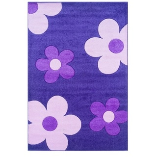 Oh! Home Corfu Collection Purple/ Baby Pink Area Rug (3' x 5')