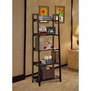 Linon Camden Black Cherry Modern 5-shelf Bookcase