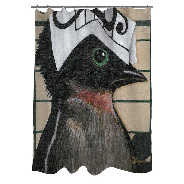 Thumbprintz You Silly Bird Will Shower Curtain