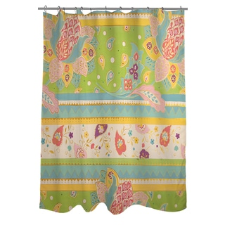 Thumbprintz Floral Stripe with Jacobean Shower Curtain