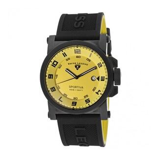 Swiss Legend Men's Sportiva SL-40030-BB-07 Yellow Watch