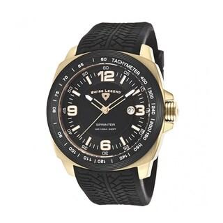 Swiss Legend Men's Sprinter SL-21045-YG-01-BB Black Watch