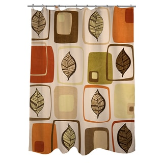 Thumbprintz Deco Leaves Shower Curtain