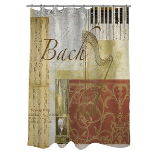 Thumbprintz Classic Composers Bach Shower Curtain
