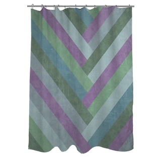 Thumbprintz Chevron Rainbow Pastels Shower Curtain