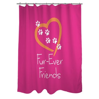 Thumbprintz Forever Friends Pink Shower Curtain