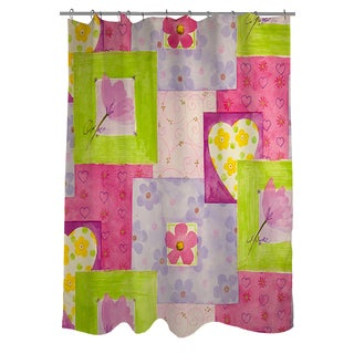 Thumbprintz Hearts and Flowers Shower Curtain