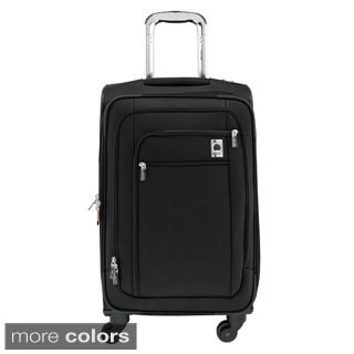 Delsey Helium Sky 20-inch Expandable Carry On Spinner Suiter Upright Suticase