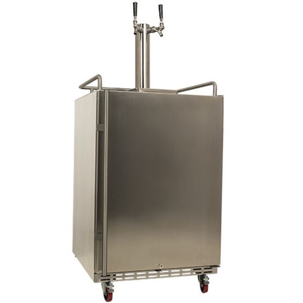 EdgeStar Full Size Dual Tap Stainless Steel Outdoor Kegerator Sold by Living Direct Beer Makers, Kegs, Coolers