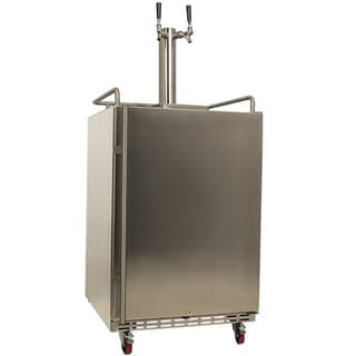 EdgeStar Full Size Dual Tap Stainless Steel Outdoor Kegerator