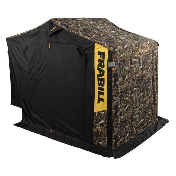 Frabill Fishouflage Ambush DLX Ice Shelter with Side Door