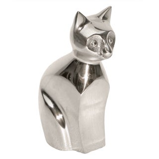 Kissa Polished Aluminum Cat