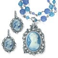 PalmBeach 2-piece Cameo Jewelry Set Color Fun