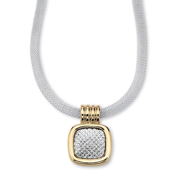 PalmBeach Two-tone Mesh Pendant Necklace Tailored