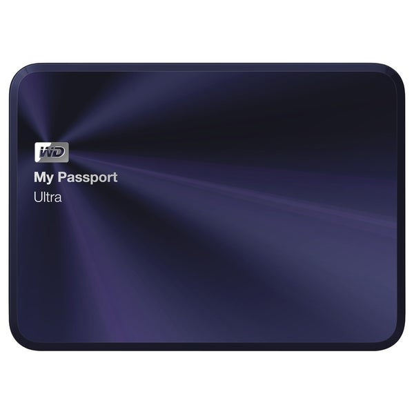 WD My Passport Ultra Metal Edition 2TB Blue-Black premium storage wit