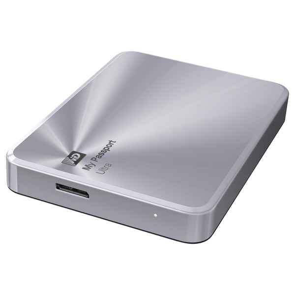 WD My Passport Ultra Metal Edition 2TB Silver premium storage with st