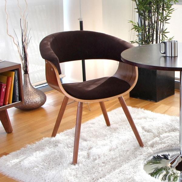 baxton studio velda brown modern accent chair