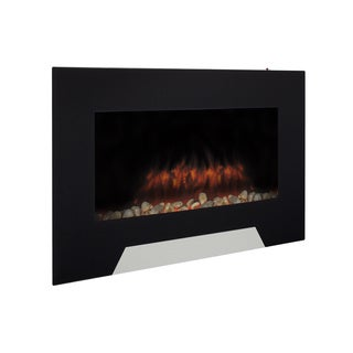Northwest Black Curved Glass Panel Wall Mounted Electric