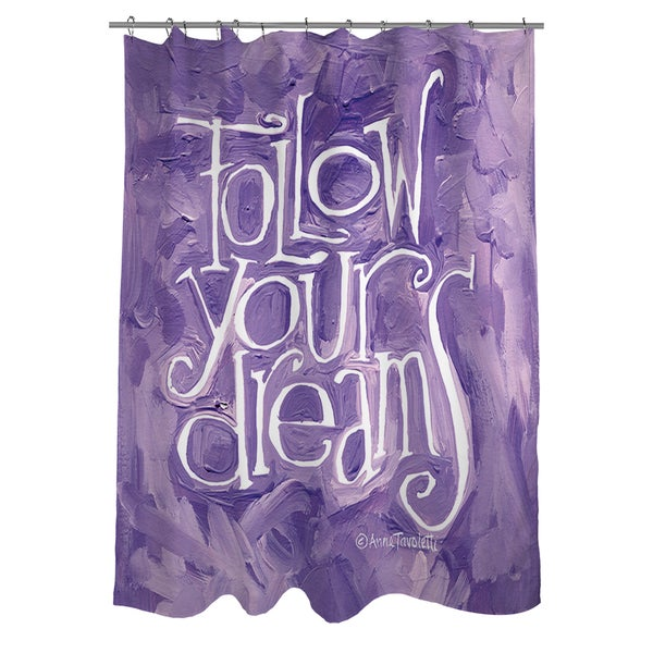 Thumbprintz Follow Your Dreams Shower Curtain
