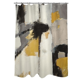 Thumbprintz Yellow Catalina I Shower Curtain