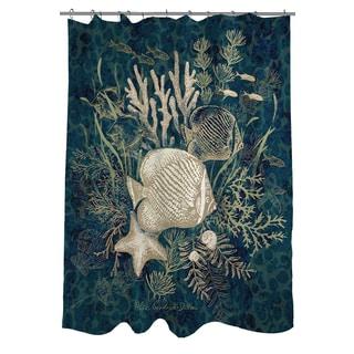 Thumbprintz Fish Vignette Shower Curtain