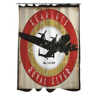 Thumbprintz Vintage Airplane Shower Curtain
