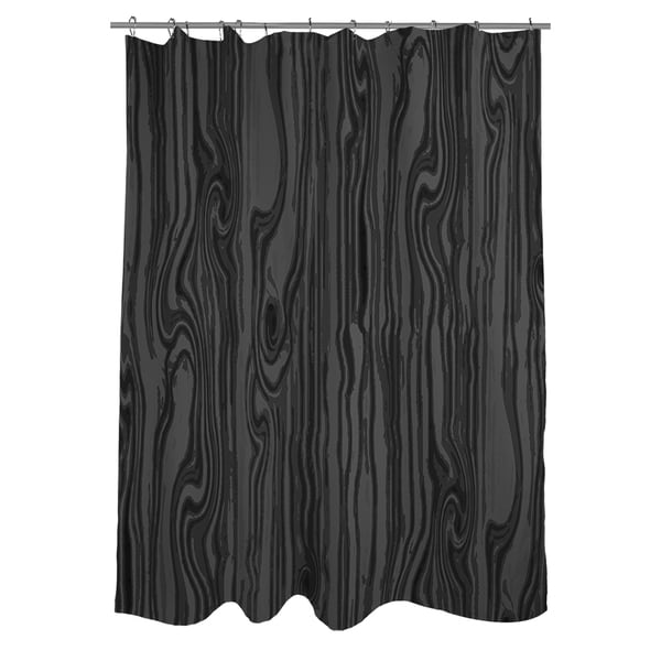shower curtain pattern wood grain large scale black color black and