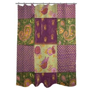 Thumbprintz Purple Paisleys and Dots Shower Curtain