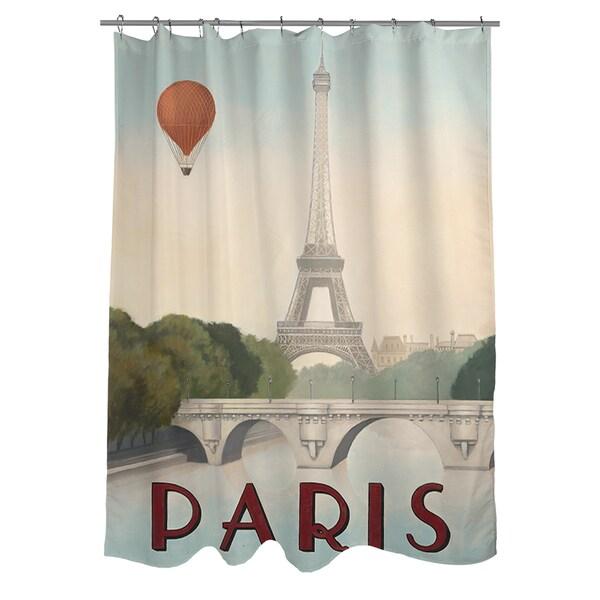 Thumbprintz City Skyline Paris Shower Curtain