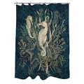Thumbprintz Sea Horse Vignette Shower Curtain