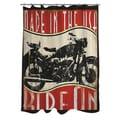 Thumbprintz Vintage Motorcycle Shower Curtain